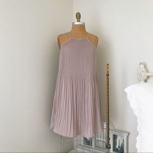 Glamorous Lilac Pleated Dress